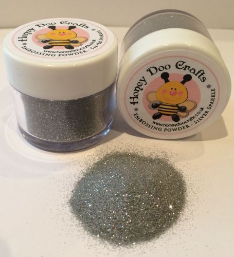 Honey Doo Crafts - Embossing Glitter - Silver Sparkle