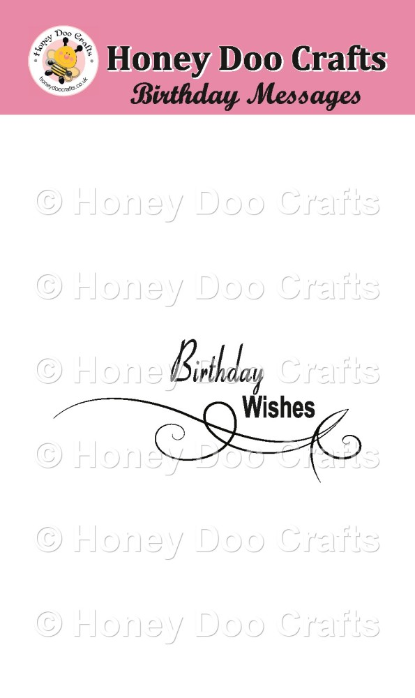 Birthday Wishes      (A7 Stamp)