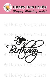 Happy Birthday Script    (A7 Stamp)