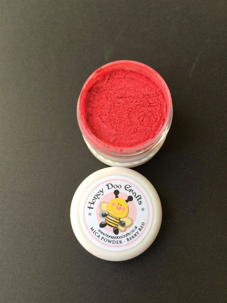 New - Berry Red - Mica Powder