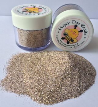 New Honey Doo Crafts 20ml Jar Of Embossing Glitter - Rose Gold - As Seen On TV