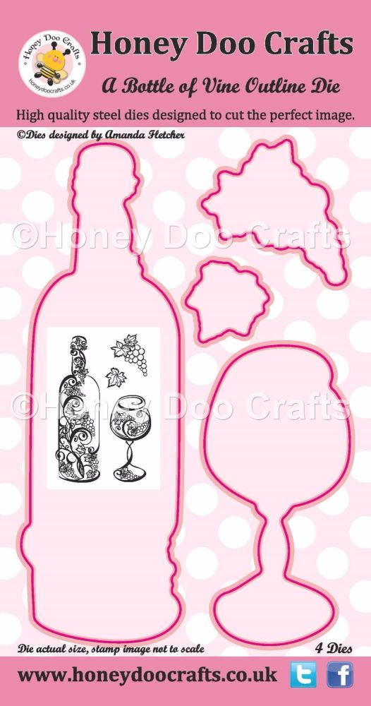 Honey Doo Crafts - A Bottle of Vine Outline Die