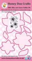Honey Doo Crafts - Little Lilies and Leaves Outline Die