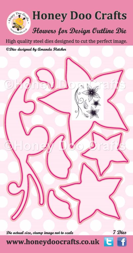 Honey Doo Crafts - Flowers for Design Outline Die