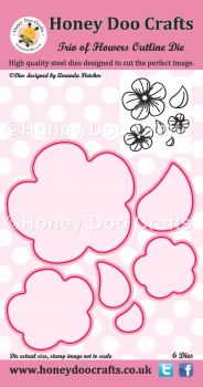 Honey Doo Crafts - Trio of Flowers Outline Die