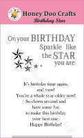 Birthday Star  (A7 Stamp)