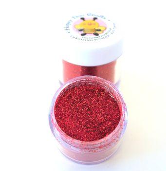 Honey Doo Crafts  20ml Jar Of Embossing Glitter - Red Tinsel