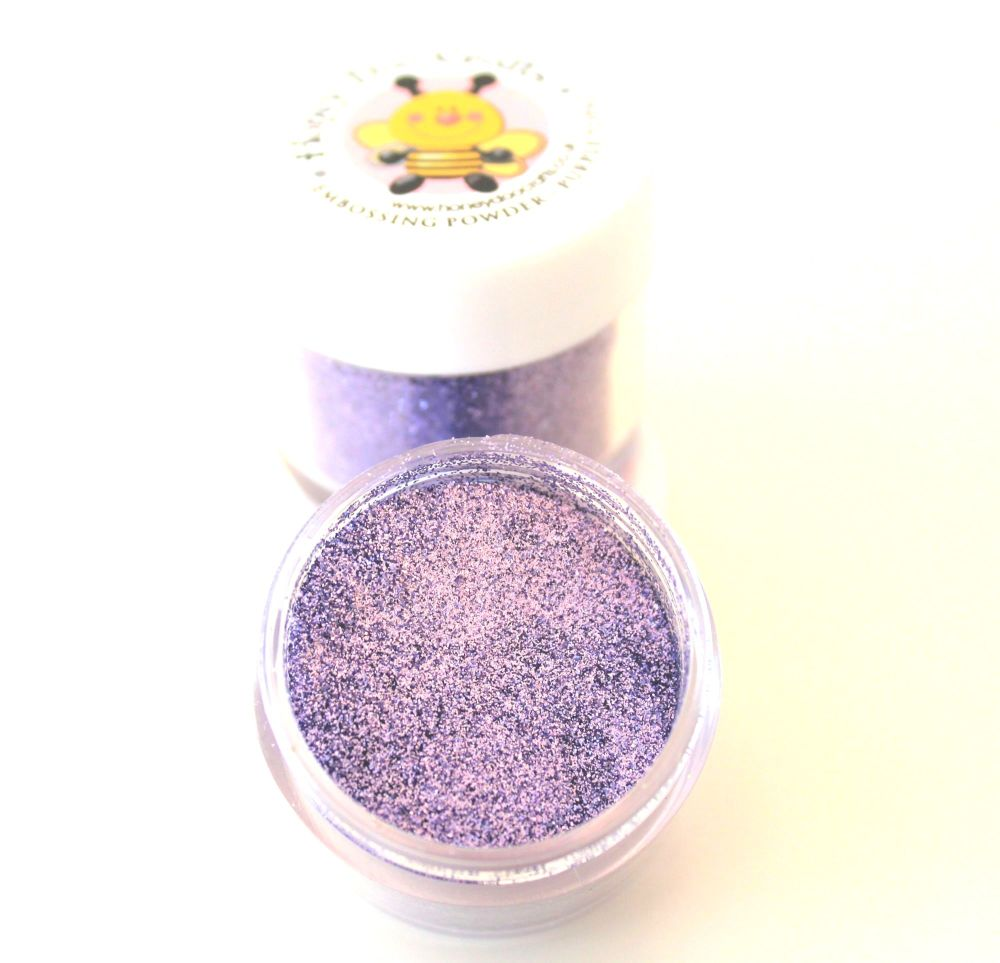 Honey Doo Crafts  20ml Jar Of Embossing Glitter - Purple Topaz - As Seen On