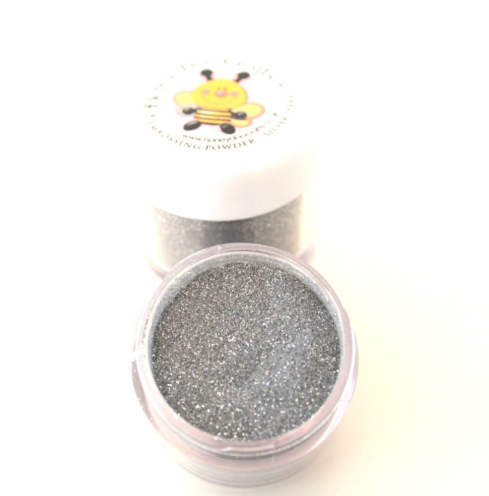 Honey Doo Crafts  20ml Jar Of Embossing Glitter - Silver Sparkle