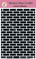 Honey Doo Crafts Stencils - Brick Wall