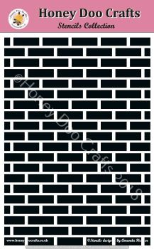 Honey Doo Crafts Stencils - Brick Wall   (A5 Stencil)