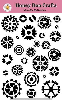 Honey Doo Crafts Stencils - COGS  (A5 Stencil)