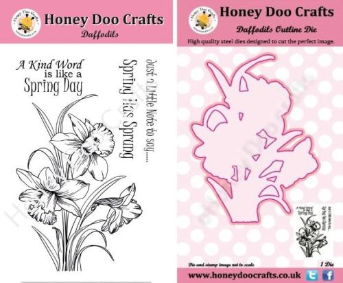Daffodils Stamp and Outline Die Set    (Pre order only dispatched mid to en