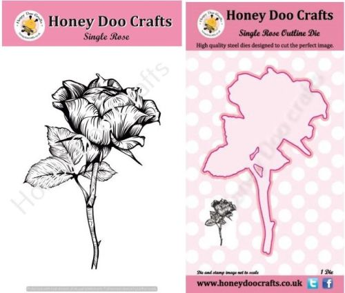 Single Rose Stamp and Outline Die Set          (Pre order only dispatched m