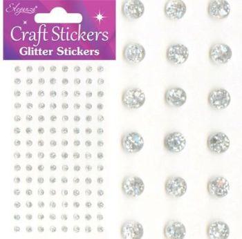 Gems Clear/Silver 4mm      027272