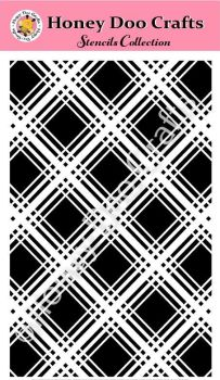 Honey Doo Crafts Stencils - Tartan    (A5 Stencil)