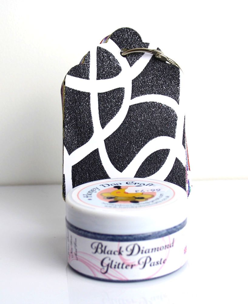 Glitter Paste - Black Diamond  100ml Jar