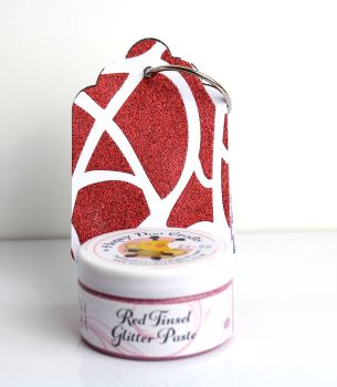Glitter Paste - Red Tinsel  100ml Jar