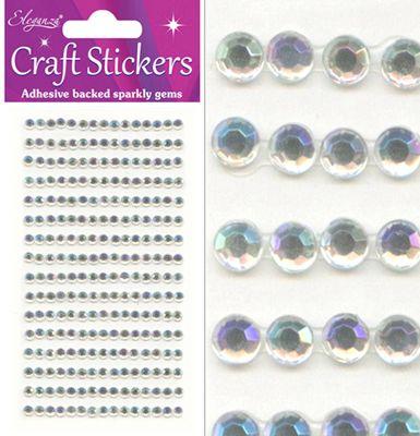 Gems Clear/Silver 4mm      (025421)