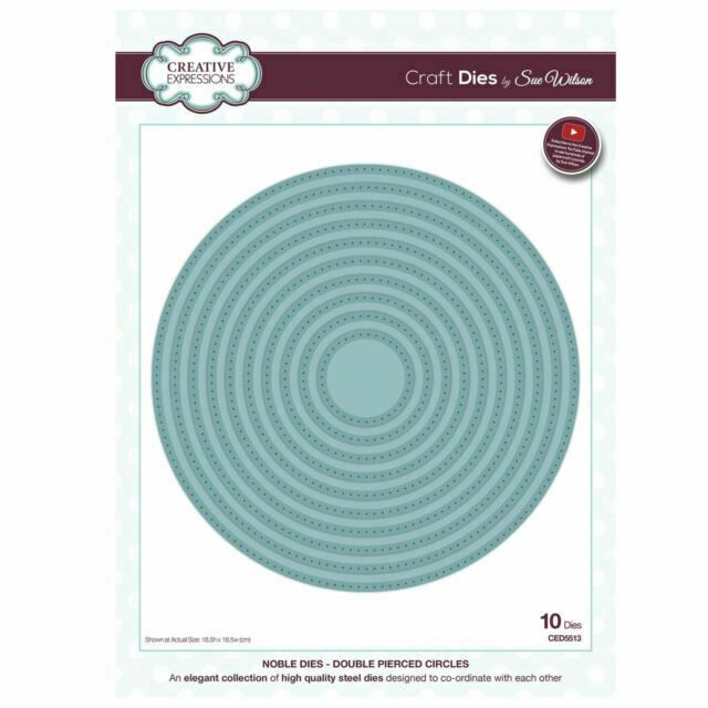 Creative Expressions Noble Double Pierced Circle Craft Dies