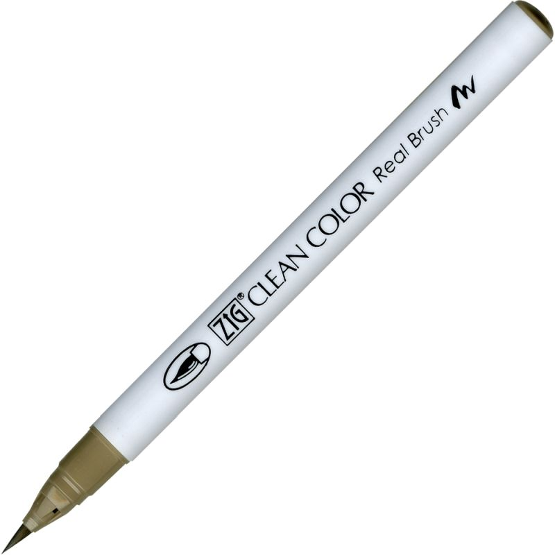 Kuretake Zig Clean Colour Pen With Real Brush Nib - Mid Grey 096
