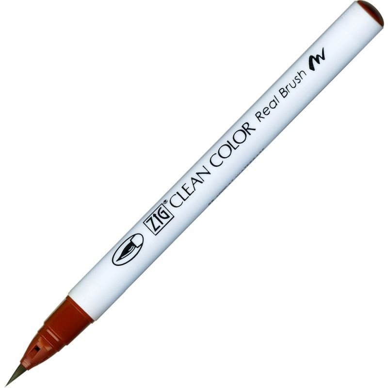 Kuretake Zig Clean Colour Pen With Real Brush Nib - Brown 060