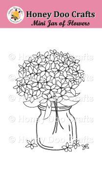 Mini Jar of Flowers (A7 Stamp)