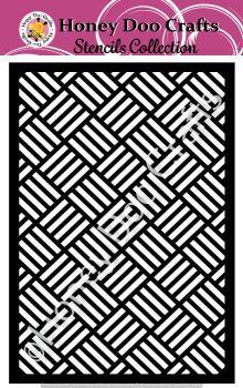 Honey Doo Crafts Stencils - Basket Weave    (A5 Stencil)