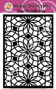 Honey Doo Crafts Stencil - Floral Tile  (A5 Stencil)