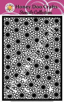 Honey Doo Crafts Stencil - Flower Power  (A5 Stencil)