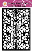 Honey Doo Crafts Stencils - Floral Tile    (A5 Stencil)