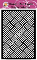 Honey Doo Crafts Stencils - Basket Weave    (A5 Stencil)