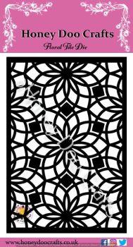 Honey Doo Crafts - Floral Tile Die