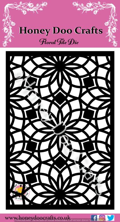 Honey Doo Crafts - Floral Tile Die