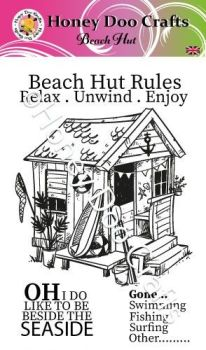 Beach Hut (A6 Stamp)