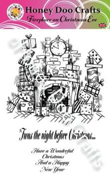 Fireplace on Christmas Eve  (A5 Stamp)