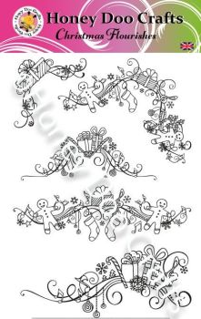 Christmas Flourishes  (A5 Stamp)
