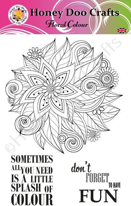 Floral Colour (A5 Stamp)
