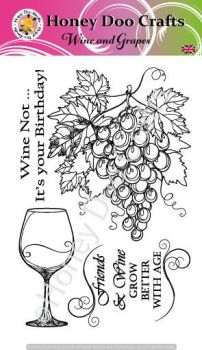 Wine & Grapes   (A6 Stamp)