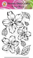 Vintage Flowers   (A6 Stamp)