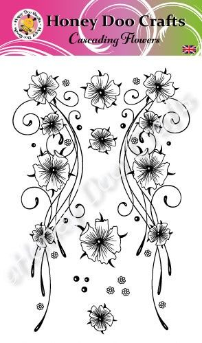 Cascading Flowers (A6 Stamp)