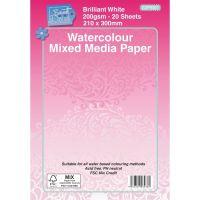 Water Colour Mixed Media Pad - 20 Sheets