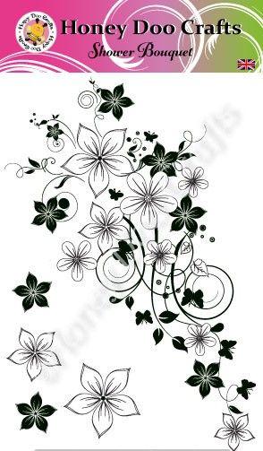 Shower Bouquet    (A6 Stamp)