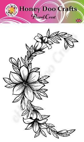 Floral Crest   (A6 Stamp)