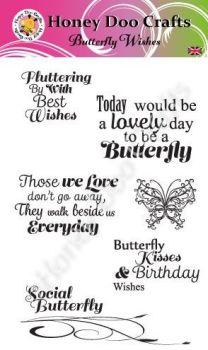 Butterfly Wishes    (A6 Stamp)