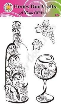 A Bottle Of Vine   (A6 Stamp)