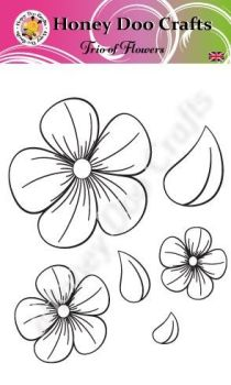Trio of Flowers   (A6 Stamp)
