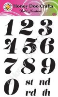 Bold Numbers   (A6 Stamp)