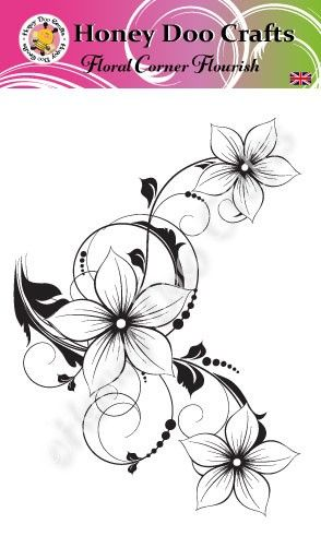 Floral Corner Flourish   (A6 Stamp)