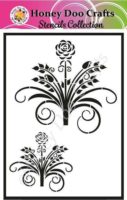 Honey Doo Crafts Stencils - Beautiful Bouquet   (A5 Stencil)